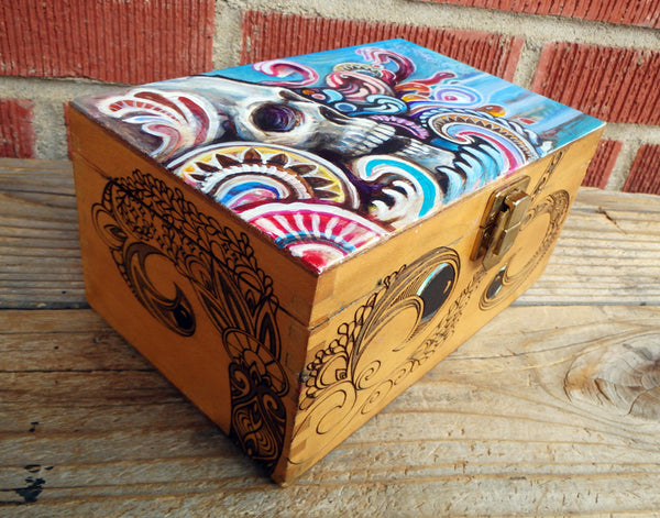 Skull Stash Box Original Painting #4