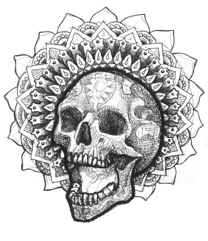 Skull 87 Original Drawing