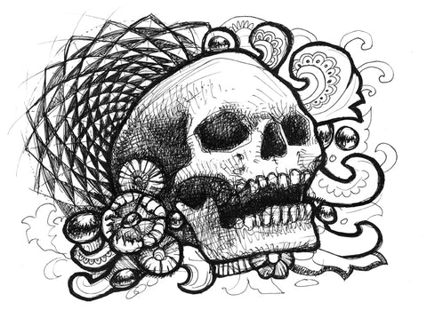 Skull 88 Original Drawing