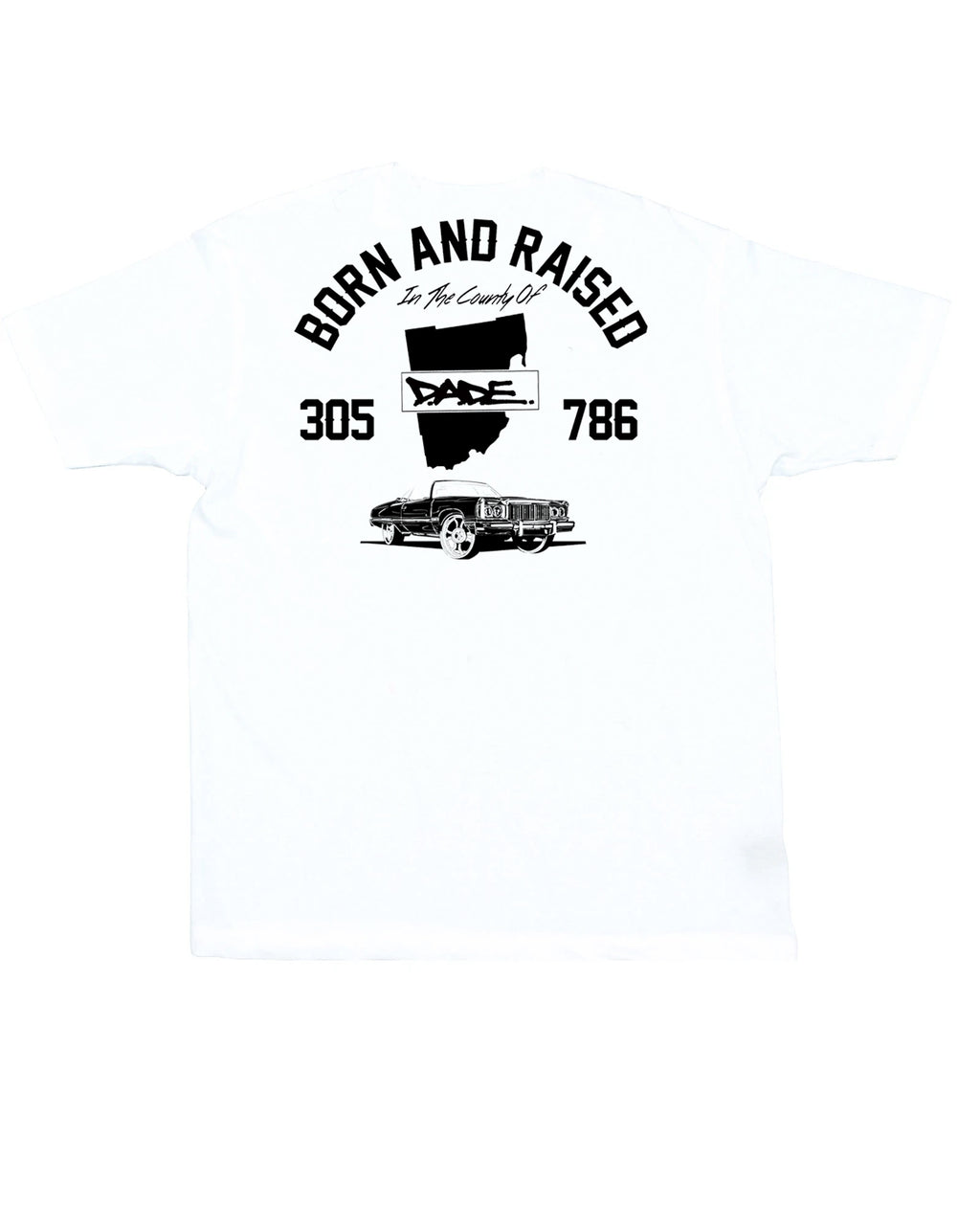 Born And Raised OG Dade Logo Tee