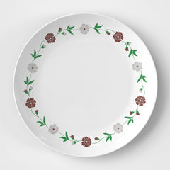 Red Flowers Plate