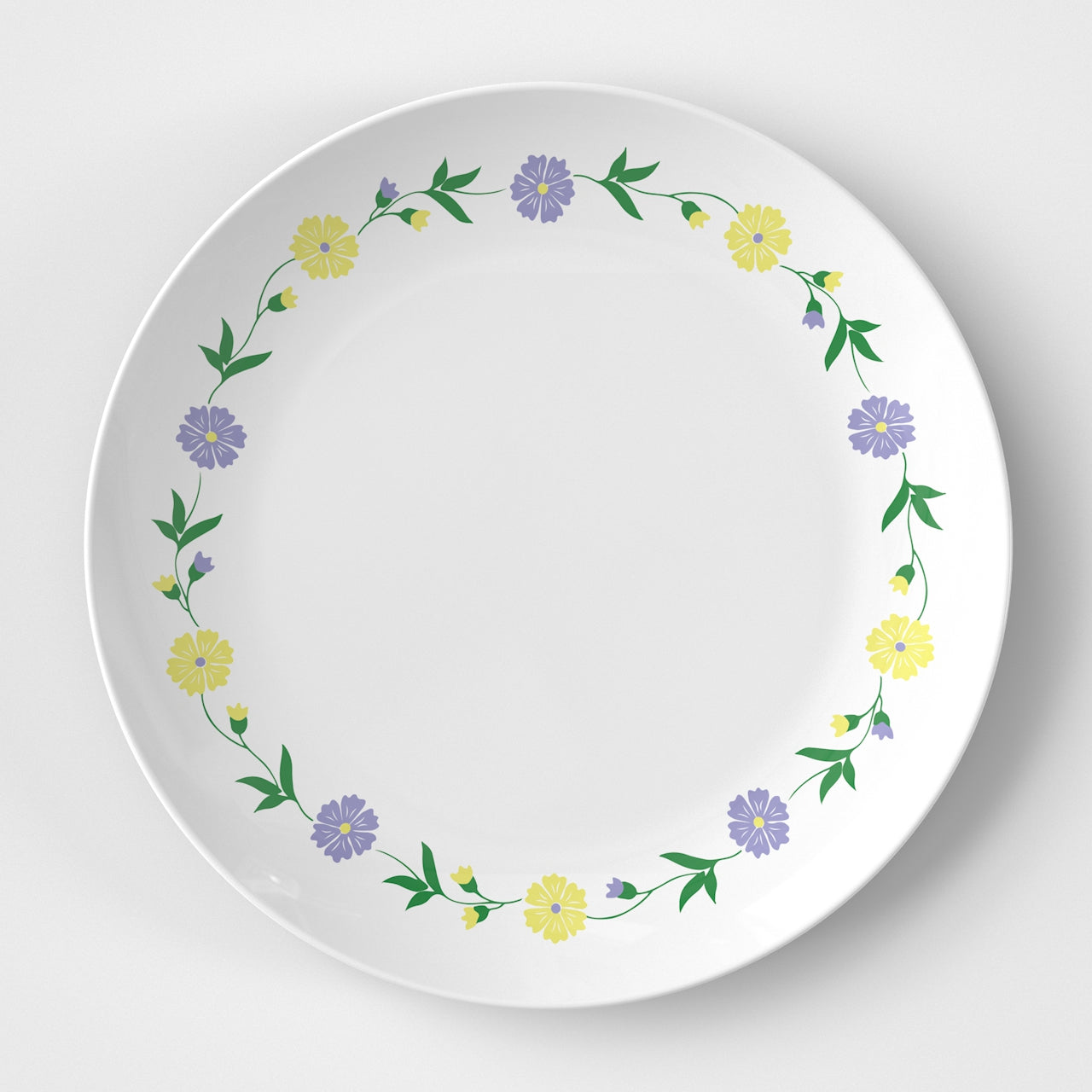 Yellow Flowers Plate