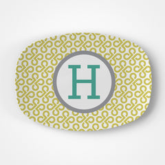 Butterfly Key Monogram Platter