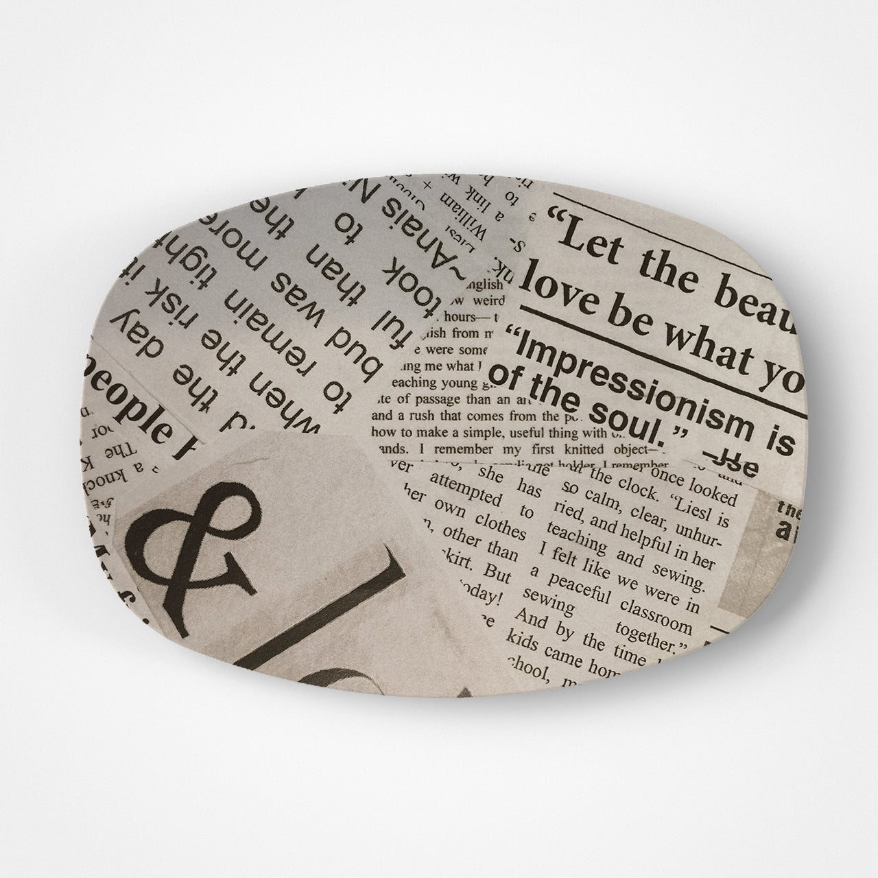 Newsprint Platter
