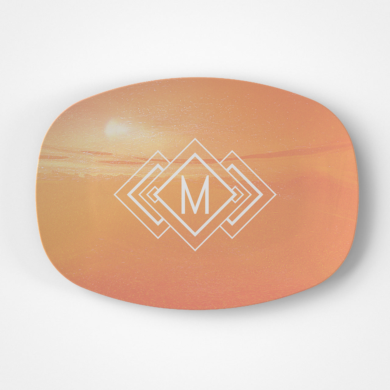 Sunset Monogram Platter