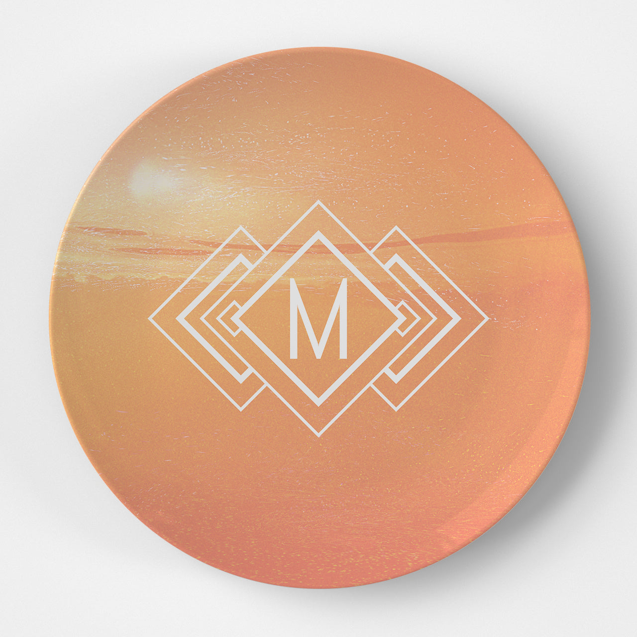 Sunset Monogram Plate