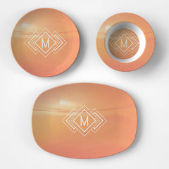 Sunset Monogram Bowl