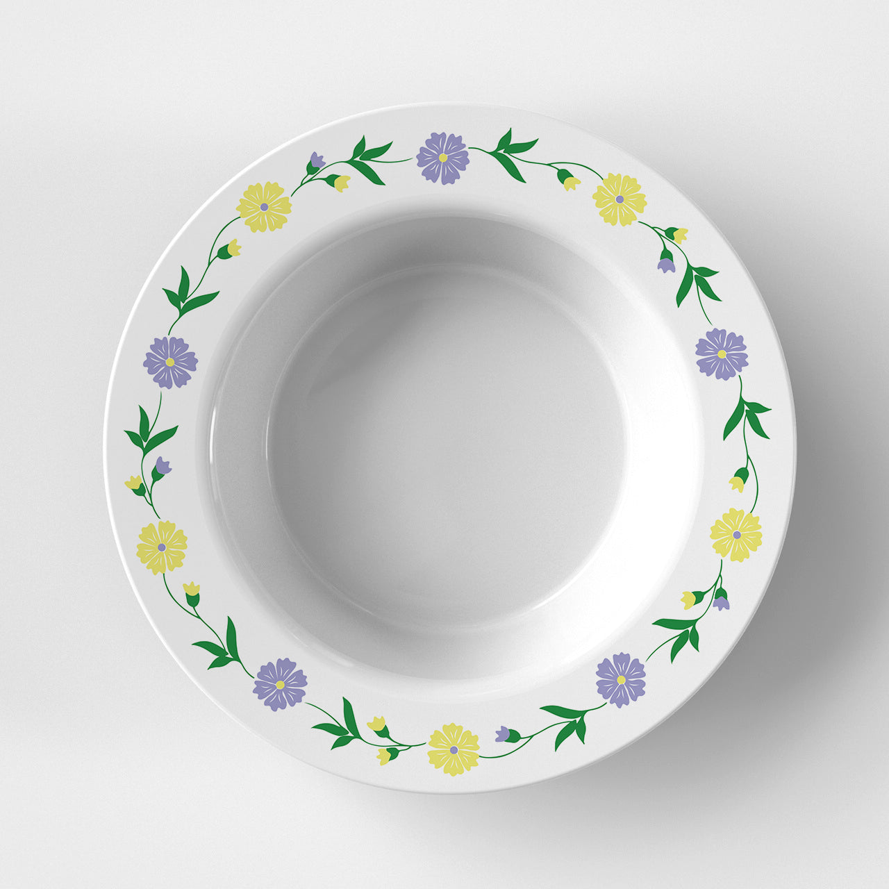 Yellow Flowers Bowl