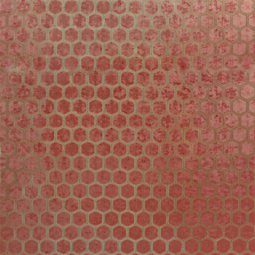 Manipur Coral FDG2832/15 Fabric