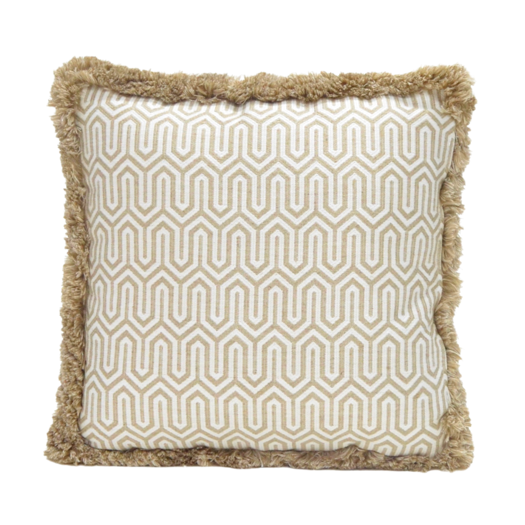 Fringe Beige & Cream Cushion