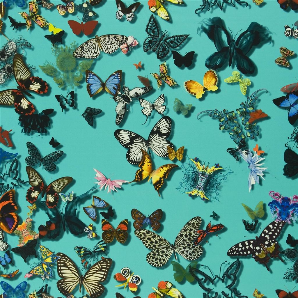 Butterfly Parade Lagon Blu Turquoise FCL025/04 Fabric