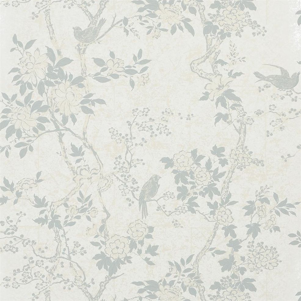 Marlowe Floral White Dove PRL048/08 Wallpaper
