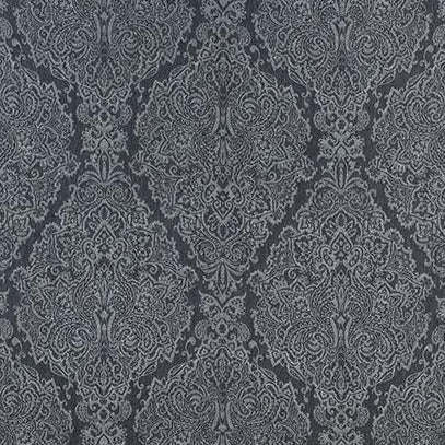 Sterling Paisley Charcoal AW73027 Fabric
