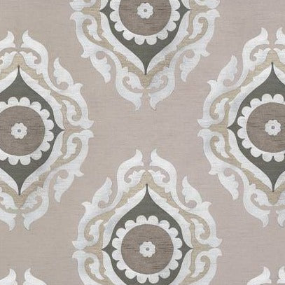 French Suzani Taupe & Grey AW7879 Fabric