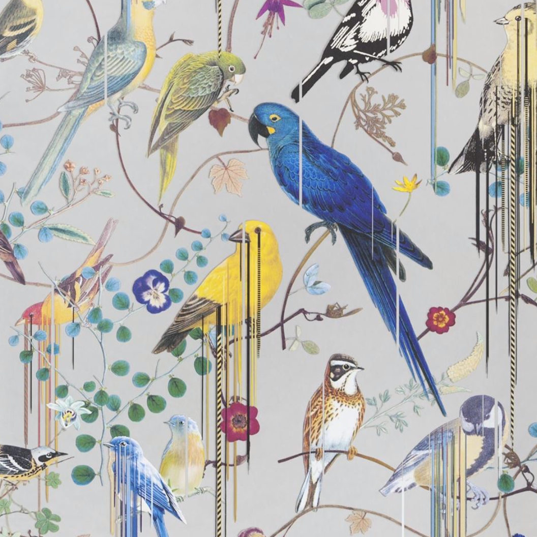 Birds Argent PCL7017/03 Wallpaper