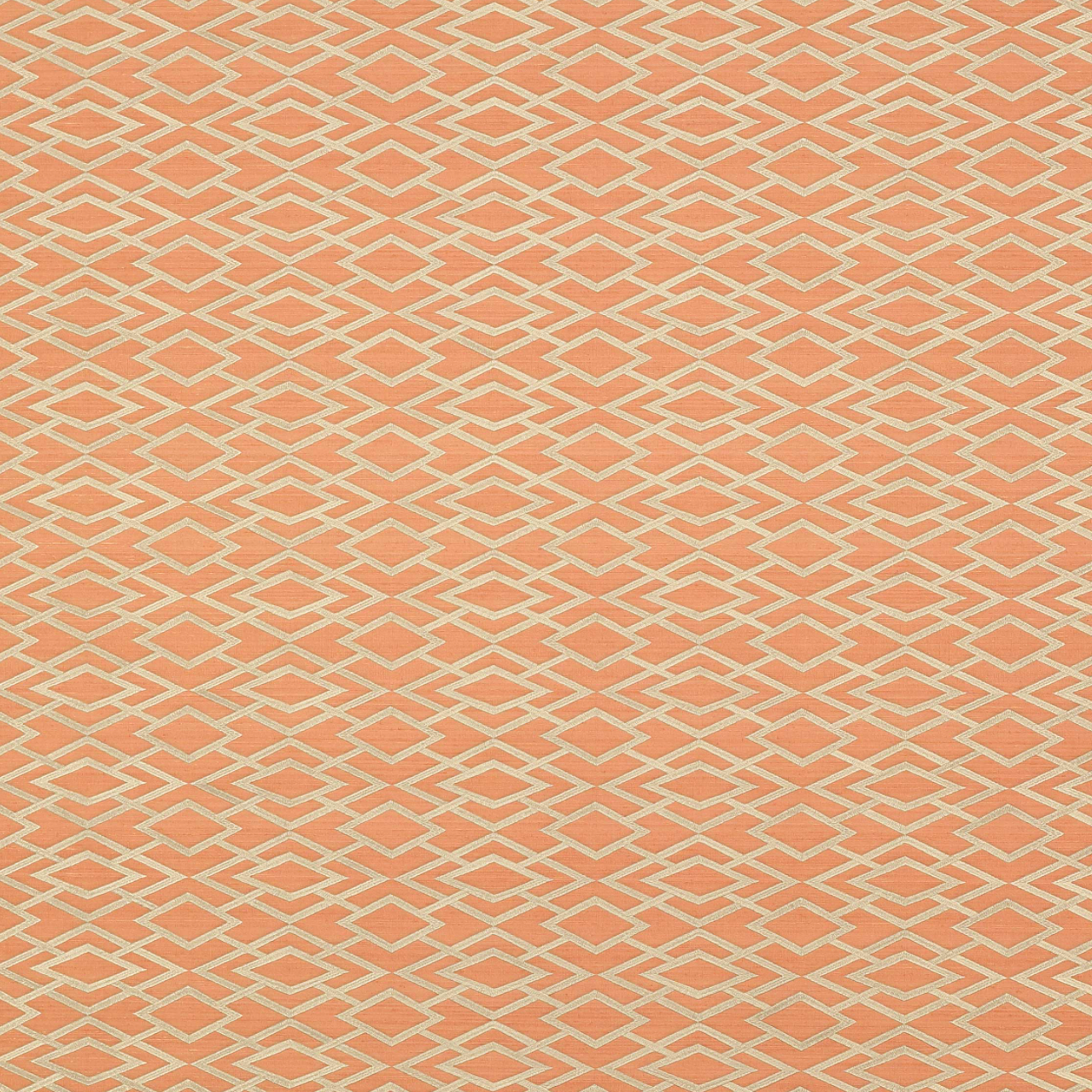 Geometric Silk Copper Wallpaper
