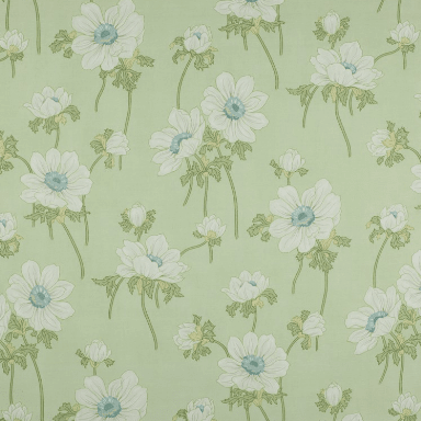 Mayfield Green Leaf Fabric