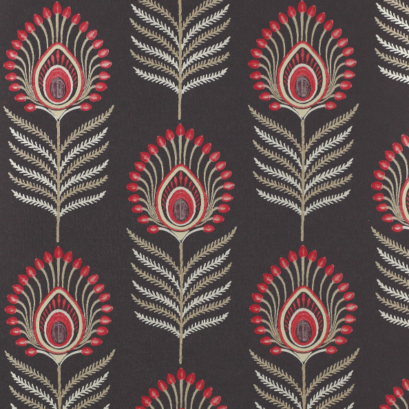 Sula Black/Red Wallpaper