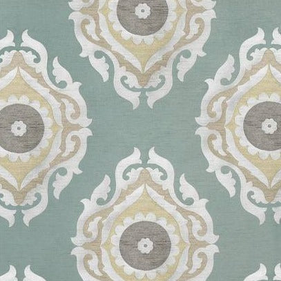 French Suzani Duck Egg AW7876 Fabric