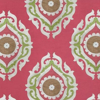 French Suzani Raspberry AW7878 Fabric