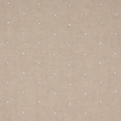 Sheer Dot Natural on White AW7859 Fabric