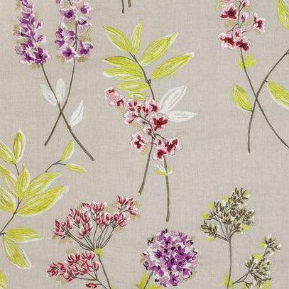 Twiggy Floral Brights on Natural AW7856 Fabric
