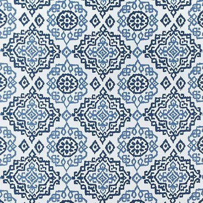 Scottsdale Blue & White AW73016 Fabric