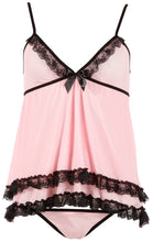 Babydoll-Set in Pink von Cottelli Collection