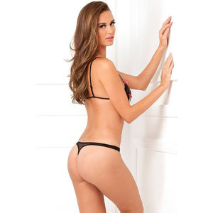 2PC Lace peek-a-boo set black von René Rofé
