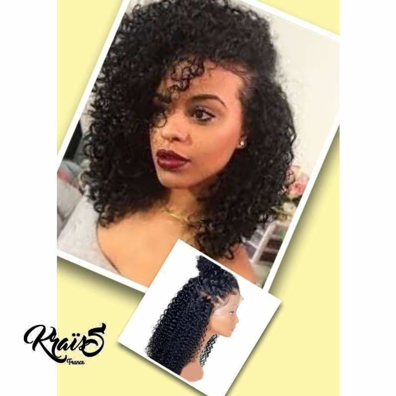 Perruque naturelle bouclée curly Michèle ( Lace wig )