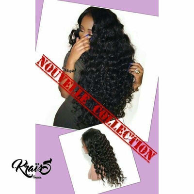 Perruque Naturelle Curly Black April (Lace Wig) - KraïSS, Perruques et tissages naturels
