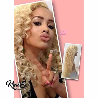 Perruque naturelle Liza blonde ( Full Lace wig ) - KraïSS, Tissage, extensions et perruques naturelles