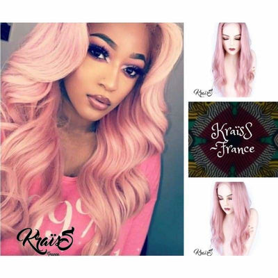 Perruque Naturelle Rose Bonbon Wendy (Full Lace Wig) - KraïSS, Tissage, extensions et perruques naturelles
