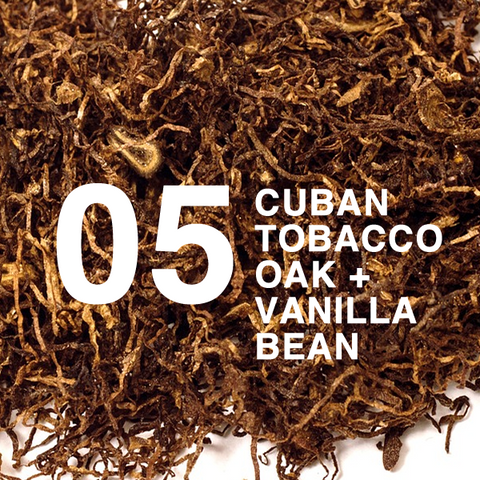 Cuban Tobacco and oak scented home fragrance