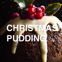 Christmas pudding scented candles