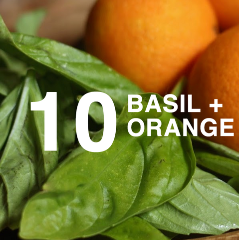 Basil and Orange scented home fragrance