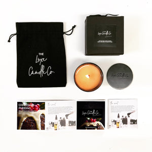 Luxury Christmas pudding soy wax candle | The Luxe Candle Co