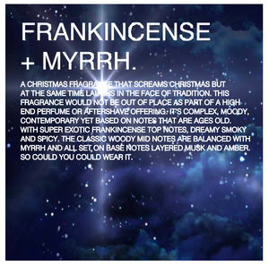 Frankincense and Myrrh scented candles
