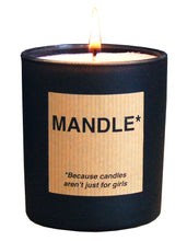 Man candle scented with cuban tobacco and oak