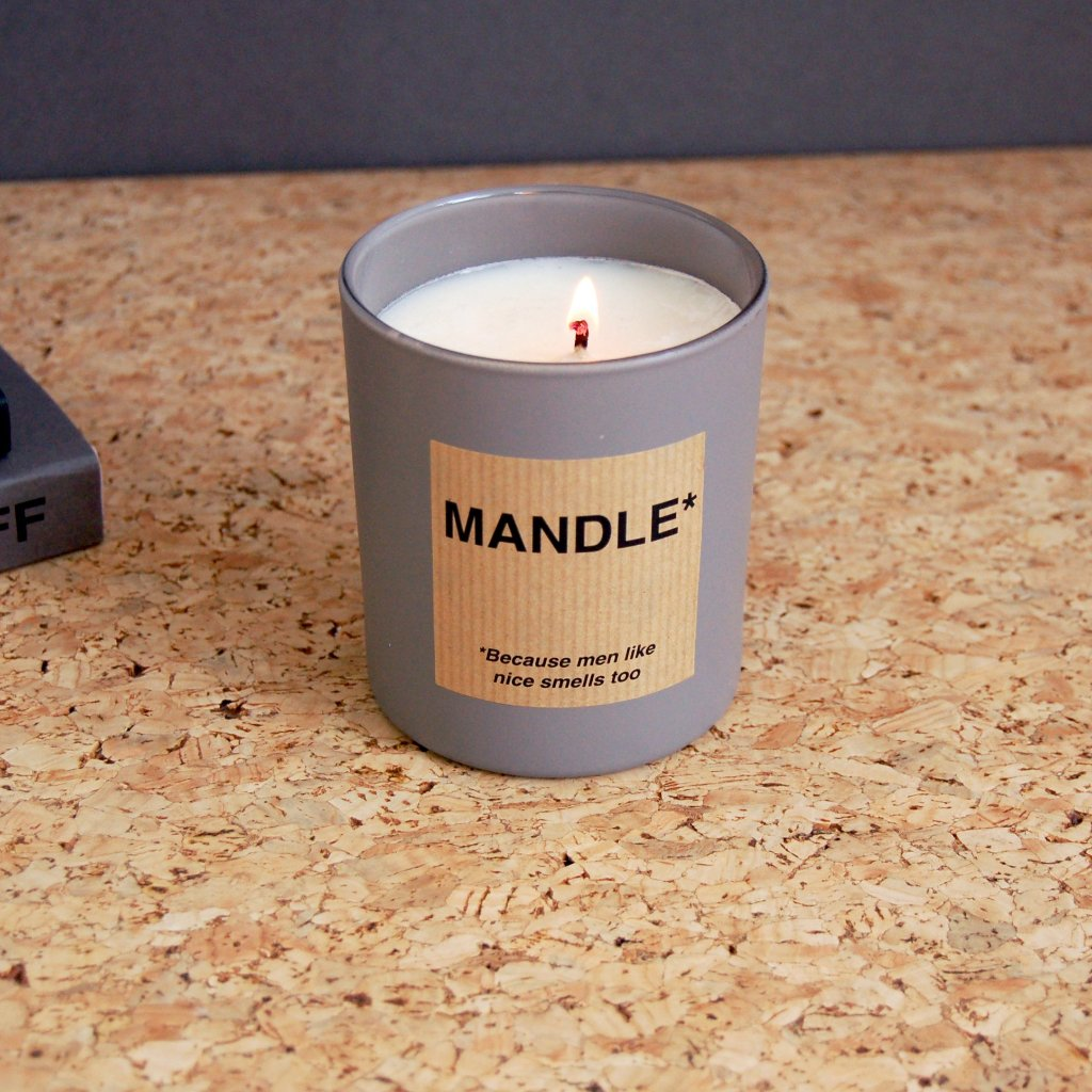 MAN CANDLE . THE MANDLE . MODERN . GREY