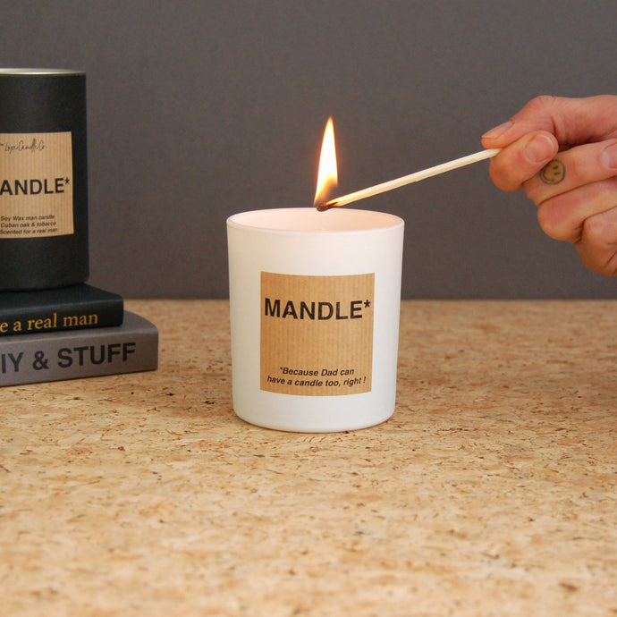MAN CANDLE . THE MANDLE . MODERN . WHITE