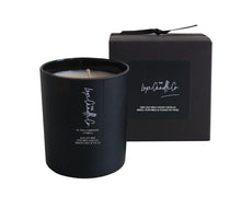 SCENTED CANDLE . PINK CHAMPAGNE + POMELO . BLACK