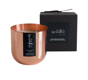 SCENTED CANDLE . PINK CHAMPAGNE + POMELO . COPPER
