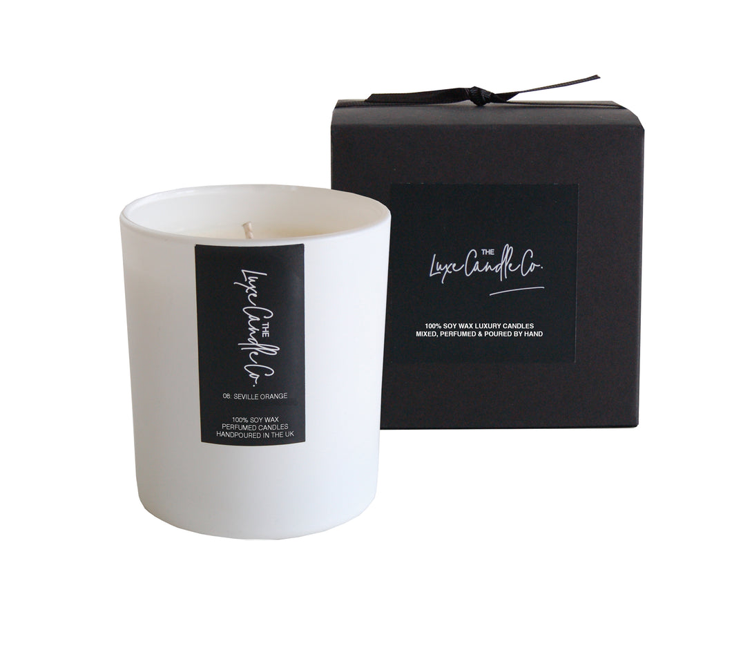 SCENTED CANDLE . SEVILLE ORANGE . WHITE