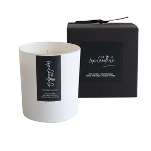 White Christmas Pudding scented soy wax candle | by The Luxe Candle Co