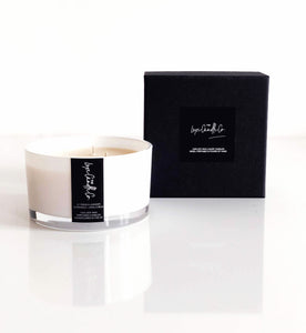 Large luxury candles 100% natural soy wax candle supplier white and black
