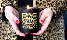 Leopard print candle for the home