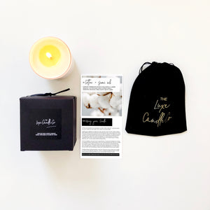 SCENTED CANDLE . COTTON + SUMI INK . BLACK