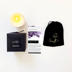 Luxury lavender scented candles