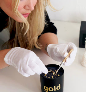 The best candle ever 24 k gold leaf